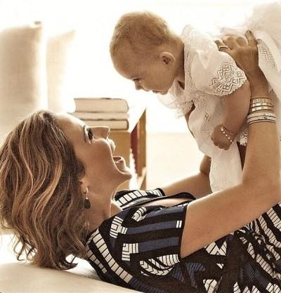 Guilhermina Guinle vivendo o sonho da maternidade
